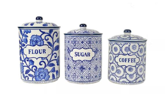 Drew Derose Ceramic Food Canister Set of 3