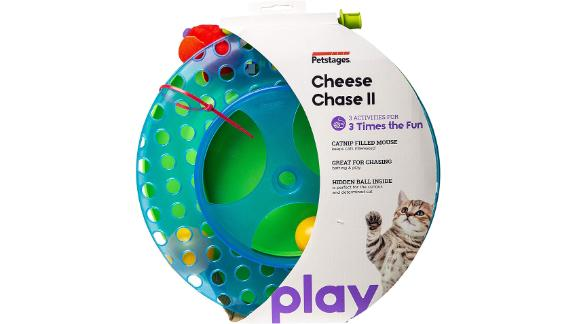 Petstages Cheese Chase Tracks Cat Toy