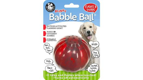 Pet Qwerks Blinky Babble Ball Interactive Dog Toy