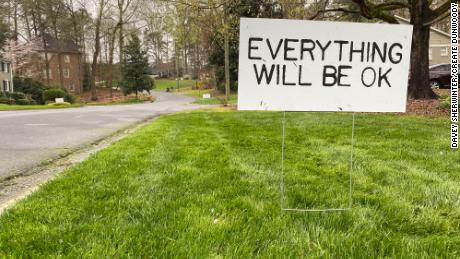 "The nonprofit Create Dunwoody is delivering ""Everything will be OK"" signs."