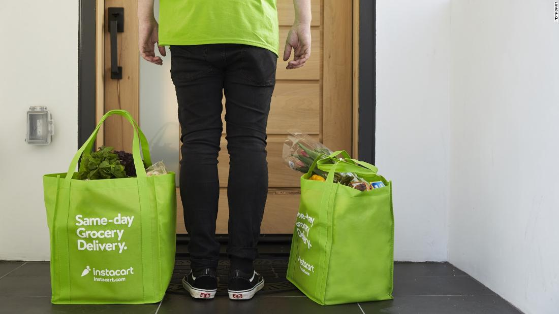 Instacart Pläne zu mieten, die mehr als 300.000 Arbeiter als Nachfrage überspannungen für Lebensmittel-Lieferungen