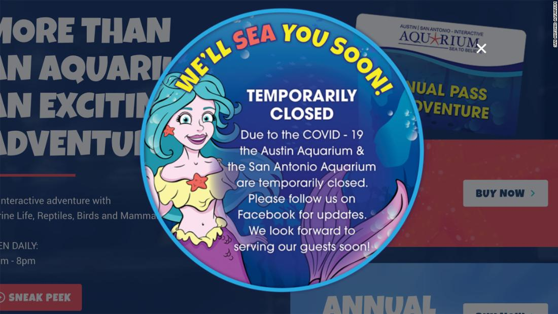 The San Antonio Aquarium has been forcibly shut down by police after refusing to close due to coronavirus