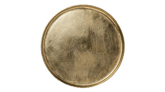 Threshold Brass Round Tray in Gold
