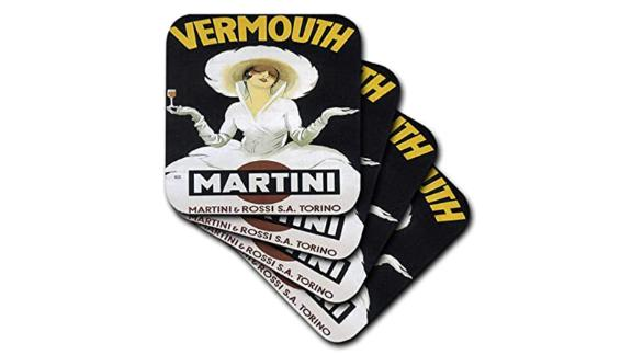Vintage Martini & Rossi Advertising Poster Soft Coasters