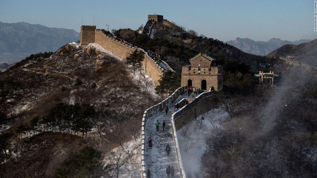 Great Wall of China's Badaling section reopens to visitors