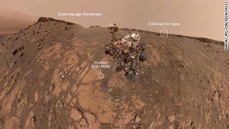 Curiosity rover shares new selfie, climbs steep hill on Mars