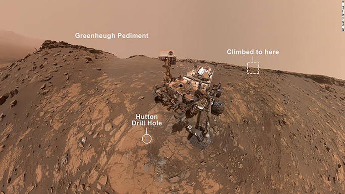 Curiosity rover shares new selfie, climbs steep hill on Mars thumbnail