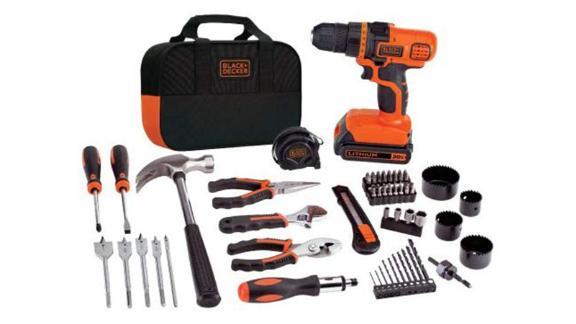 Black+Decker 20V MAX Drill & Home Tool Kit, 68-piece