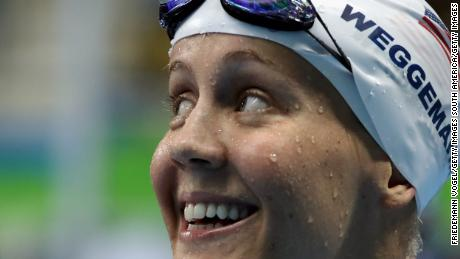 Mallory Weggemann of USA smiles at the Rio 2016 Paralympic Games.
