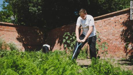 Vegetables are sourced from Hampton Manor's gardens.