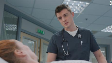 "A still from the BBC medical drama ""Casualty,"" which will donate supplies to local hospitals."