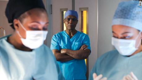 "A still from ""Holby City,"" which has halted production for the first time since it began in 1999."