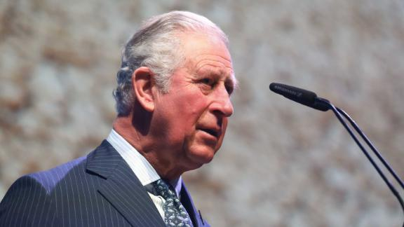 "Prince Charles speaks at an event in London in March 2020. Later that month, it was announced that he had tested positive for the novel coronavirus. A statement on March 25 said that Charles was ""displaying mild symptoms but otherwise remains in good health and has been working from home throughout the last few days as usual."""