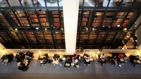 Readers at the British Library in London