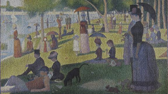 """A Sunday Afternoon"" by Georges-Pierre Seurat 1000-Piece Jigsaw Puzzle"