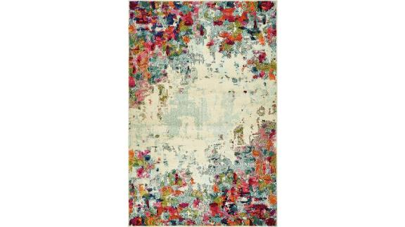 Annmarie Abstract Cream Area Rug