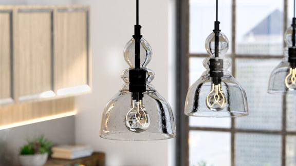Ebern Designs Single Dome Pendant