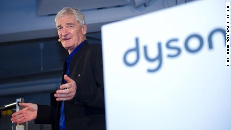 James Dyson unveils a new product in Germany.