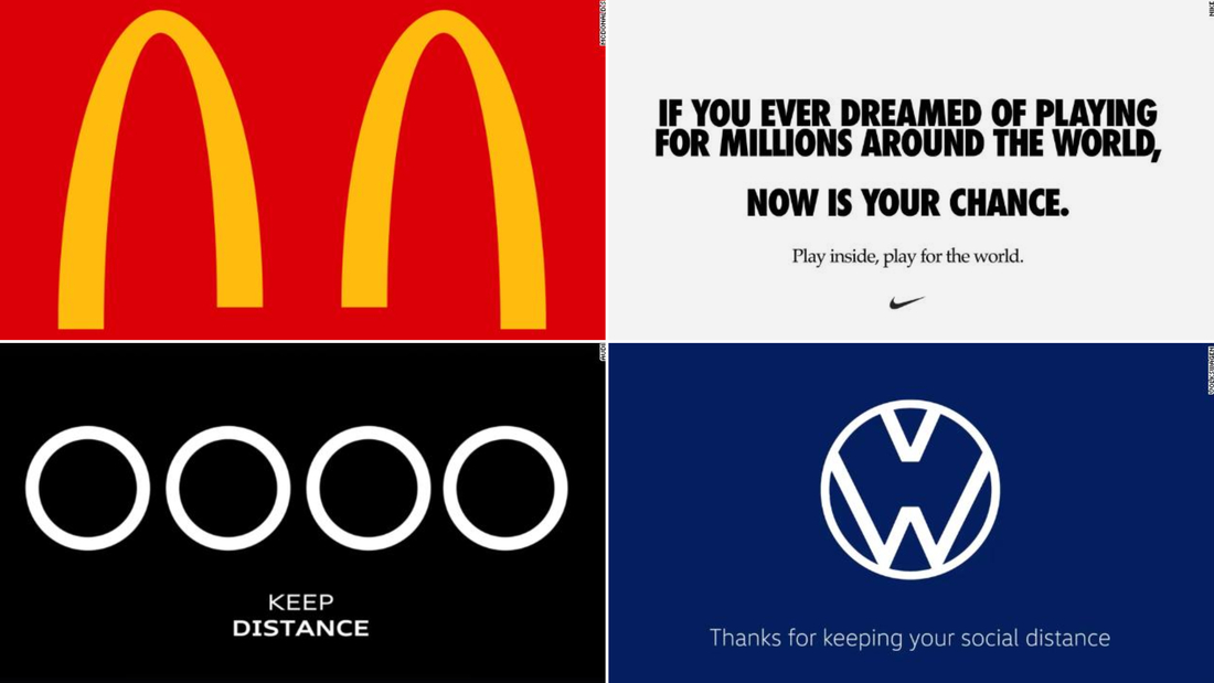McDonald's and other brands are making 'social distancing' logos