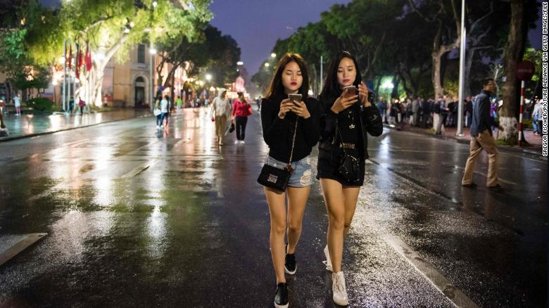 Smartphones are changing the way of life in Vietnam.