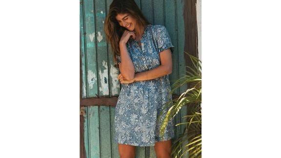 Gemina Sunwashed Linen Blend Dress