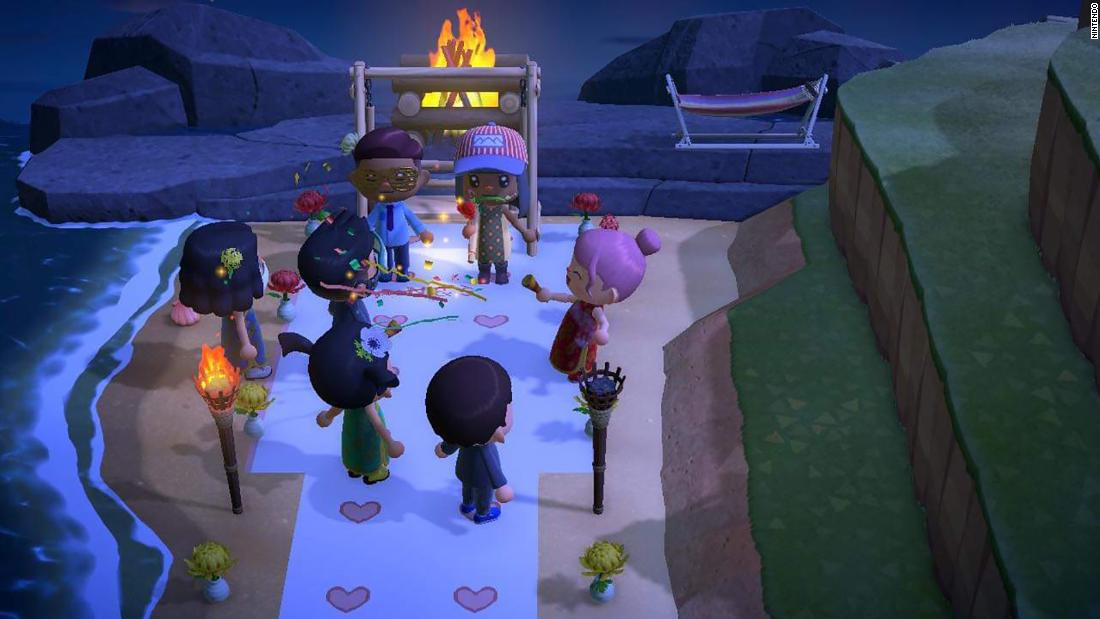 People are holding video game weddings and graduation ceremonies