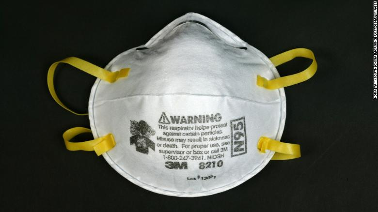 The N95 respirator mask can filter 95% of very small particles from the air.