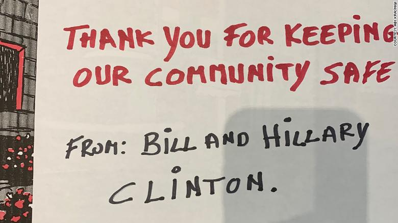 The Clintons sent over 400 pizzas to hospitals in New York to support health care workers during the coronavirus crisis.