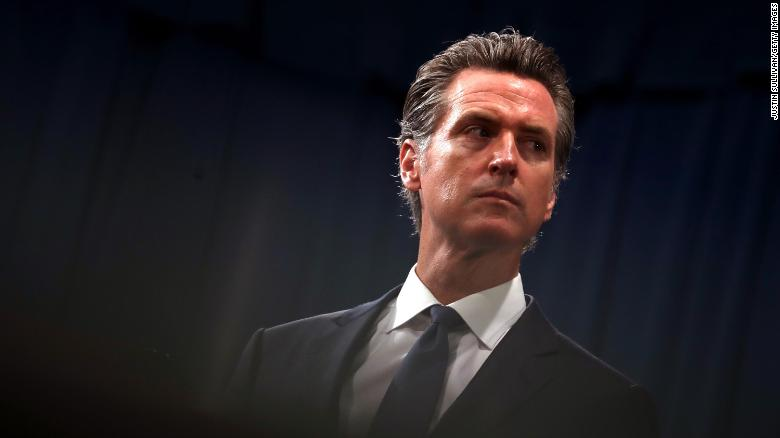 California is in 'pandemic-induced recession,' governor says
