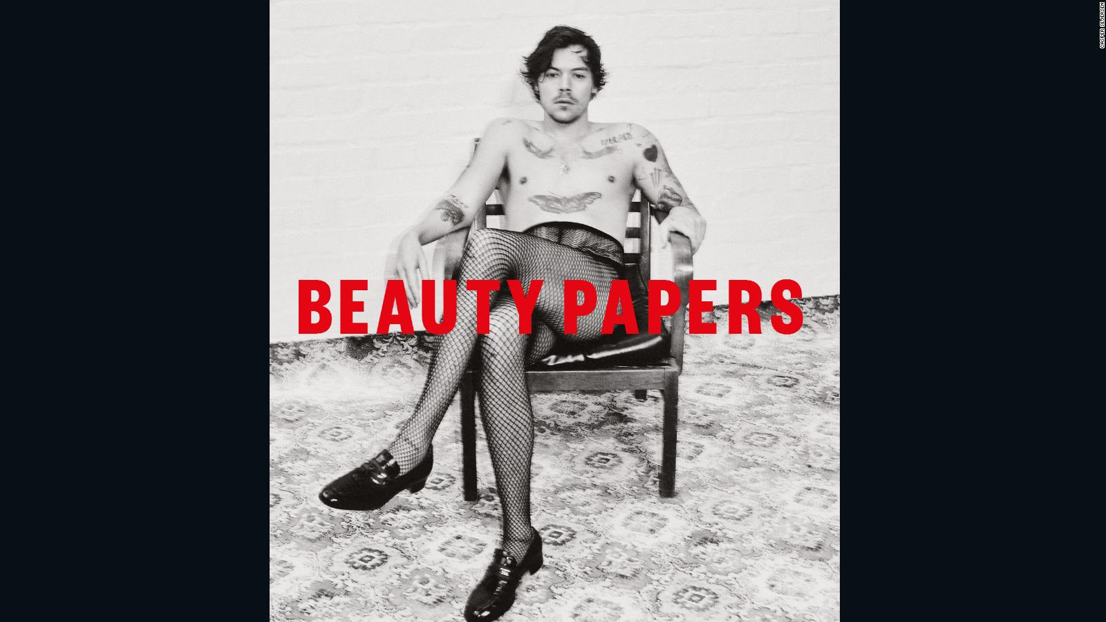 Harry Styles Appears In Fishnets On The Cover Of Beauty Papers Magazine Cnn Style