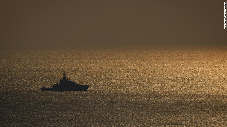 A ship in the English Channel (file picture).