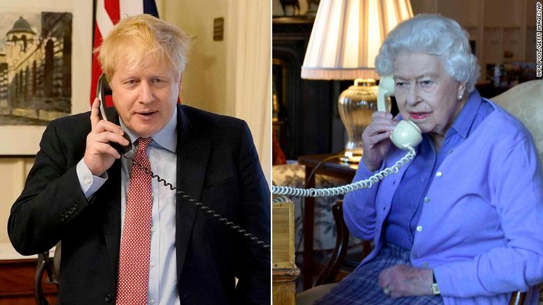 约翰逊本周通过电话与女王通话。