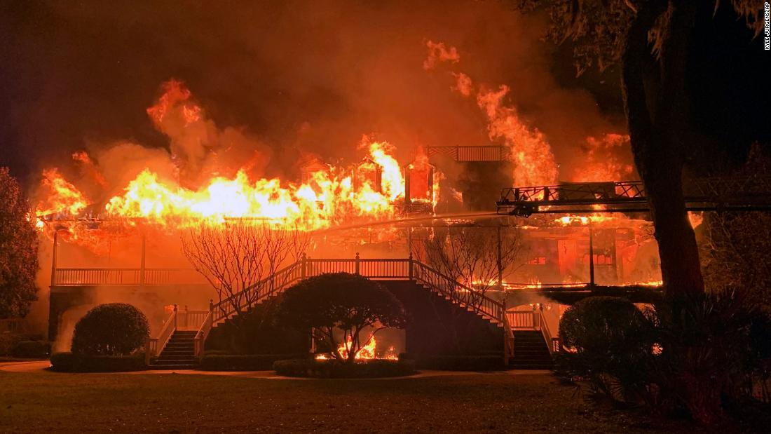 The home of golfer Davis Love III was destroyed by a fire