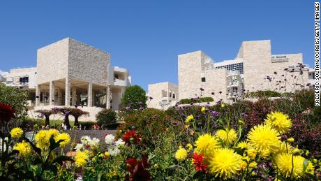 Museum and Cultural Center Getty Center in Brentwood, Los Angeles.