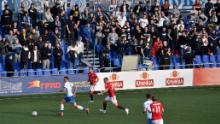 More than 1,700 fans attended the derby in Minsk, Belarus' capital.