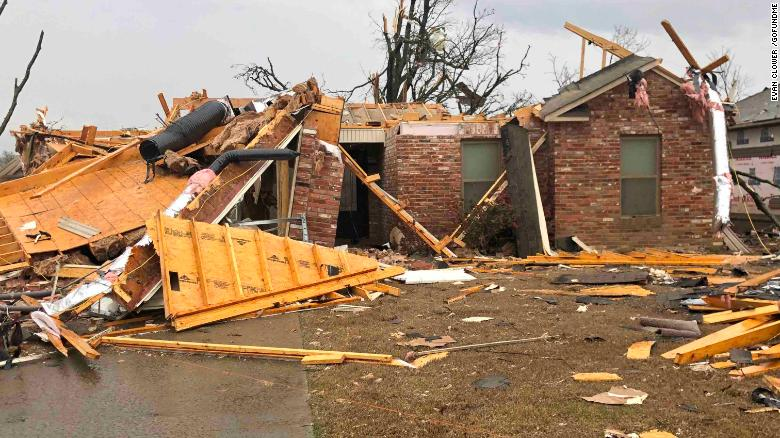 The Burks family home was destroyed in the tornado.