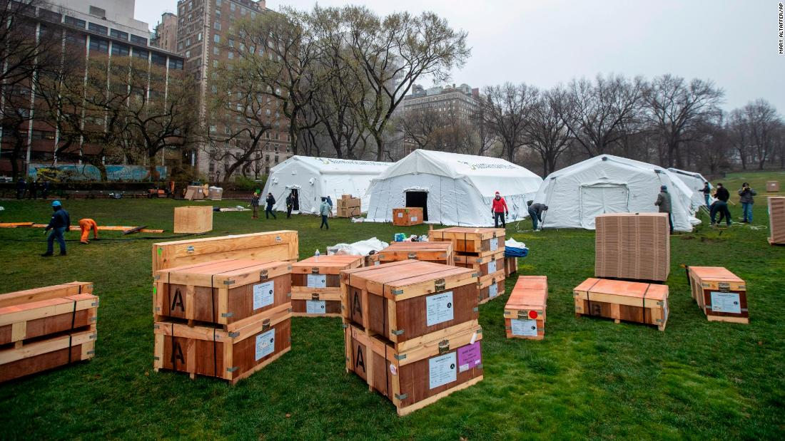 See temporary hospitals set up in Central Park