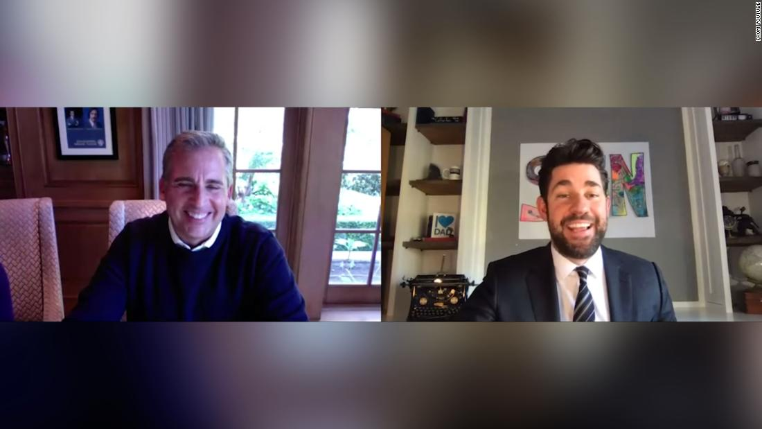 John Krasinski and Steve Carell gave us a mini 'The Office' reunion