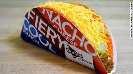 IRVINE, CA - SEPTEMBER 12:  The Doritos Locos Taco continues to be a best seller for Taco Bell.  (Photo by Joshua Blanchard/Getty Images for Taco Bell)