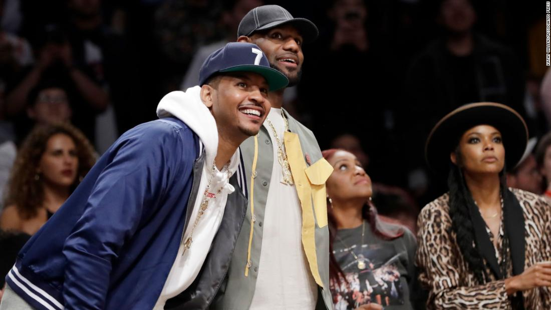 Carmelo Anthony shares story of how LeBron James once saved him from drowning