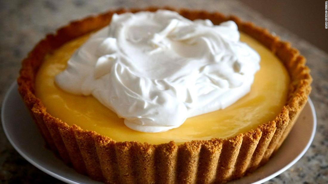 "Silvia Rubiales Bussell made this no-bake Meyer lemon cheesecake pie from West Palm Beach, Florida. ""Baking and cooking for me is like meditation,"" she said. ""It keeps me calm."""