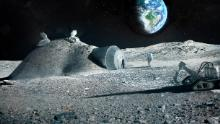 Future moon bases could be built with 3D printers that mix materials such as moon regolith, water -- and astronauts urine.