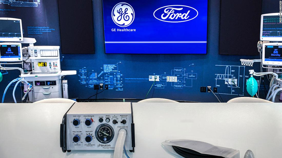 Ford zu bauen, die 50.000 Ventilatoren in 100 Tagen