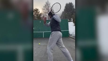 Roger Federer shows off trick shots while on lockdown