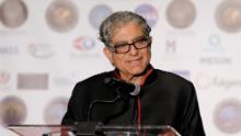 LOS ANGELES, CALIFORNIA - MARCH 16: Founder of The Chopra Foundation Deepak Chopra receives the Humanitarian Award at the 16th annual 'Gathering for Cure' black tie awards gala of Brain Mapping Foundation on March 16, 2019 in Los Angeles, California. (Photo by Tibrina Hobson/Getty Images for Brain Mapping Foundation)