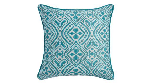 Geometric Jacquard Indoor Outdoor Throw Pillow