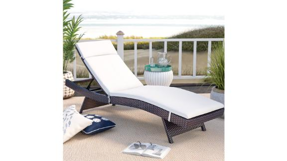 Seaton Reclining Chaise Lounge with Cushion