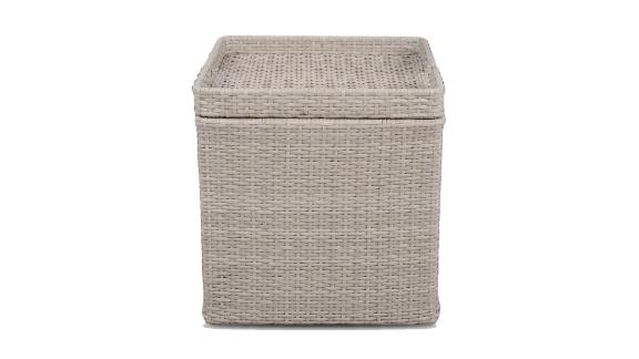 Wicker Storage Accent Patio Table