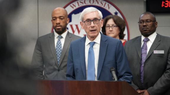 Gov. Tony Evers declares a public health emergency Thursday March 12, 2020 in response to a growing number of cases of COVID-19, the respiratory disease caused by the new coronavirus, in Wisconsin.