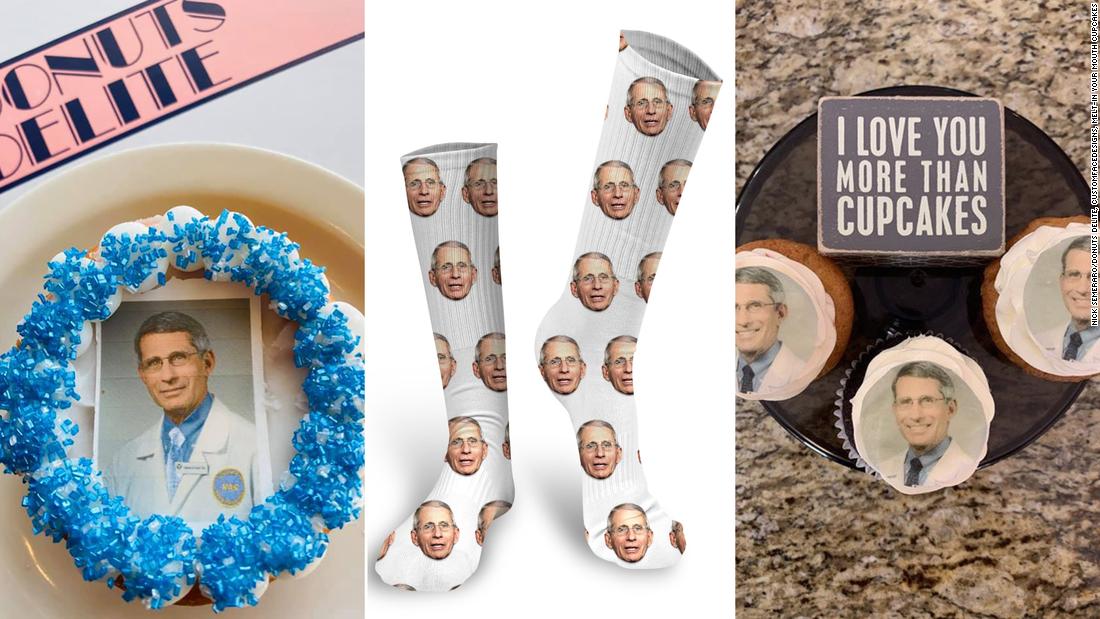 Kaus kaki, pasta dan cupcakes: Lihat epik cara orang merayakan Dr Fauci